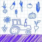 Трактор. Собирай урожай.